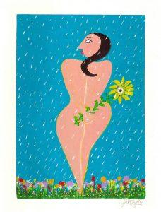 Primavera | Gouache sobre papel, 300gr. | Tamaño: 24x18cm. | Prezo:Vendida