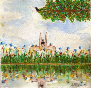 Flore et faune | Acuarela| Tamaño: 15x15cm | Prezo: Colección particular