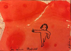 Perdidos | Óleo e tinta sobre papel 300gr | Tamaño: 12x18cm | Prezo: 00.00€