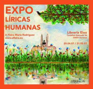 Exposición na librería Eixo. Ourense.