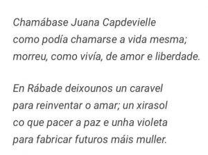 Texto Claudio Rodríguez Fer.